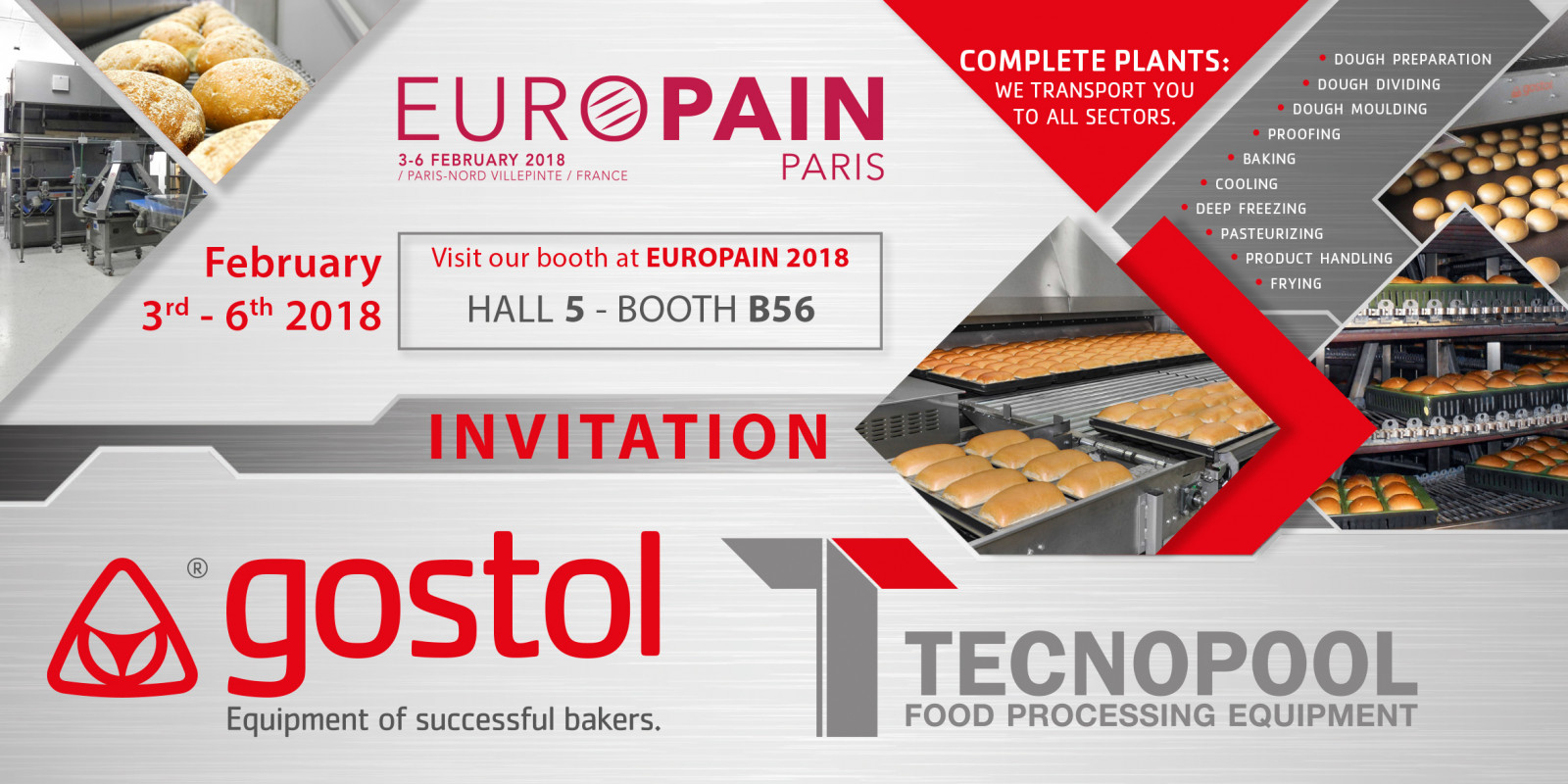 Invitation on exhibition EUROPAIN, Paris, 03rd-06th, February, 2018