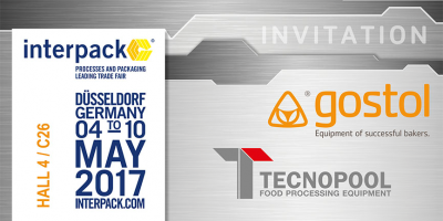Invitation on exhibition INTERPACK, Düsseldorf, 04th-10th, May, 2017